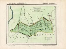 ANTIQUE MAP-HOLLAND-EMMIKHOVEN-NOORD BRABANT-KUYPER-1865