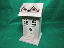 Unfinished Wood Decorative Two Window Birdhouse