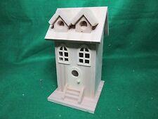 Unfinished Wood Decorative Two Window Birdhouse
