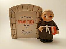Goebel Friar Tuck Monk Display Plaque BROWN West Germany Original Series