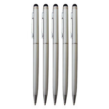 5x Touchpen Stylus Eingabestift Kugelschreiber Kulli silber Smartphone Tablet
