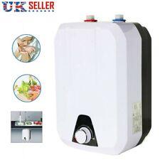 8L Electric Water Storage Tank Water Heater Boiler Kitchen Bathroom Under Sink