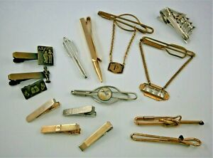 Vintage Tie Clips, Risque, 835 Silver, Sporting, more