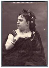 Thérésa Vintage albumen print. Tirage albuminé  9x12  Circa 1880
