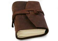 "Handmade Brown Pocket Rustic Leather Journal / Instagram photo album - 5"" X 4"""