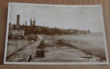Postcard St Andrews Fife  Scotland From The Harbour Real photo 1943