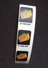 TAXI Pinball Machine Game Set of (3) Original NOS Hollywood Drop Target Decals