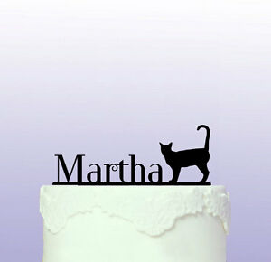 Cat Personalised Acrylic Cake Topper