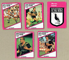 1988 SCANLENS RUGBY LEAGUE CARDS - WESTERN SUBURBS MAGPIES