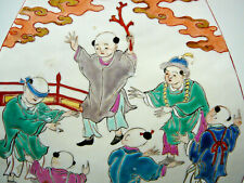 Beautiful Chinese porcelain famille verte vase 19th C