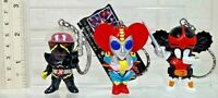 RARE SET OF 3 ZABITAN HAKAIDER BIJINDER MARI FIGURE KEYCHAIN KEY RING BANPRESTO