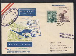 A-29) beautiful FFC LH 430 Lufthansa Hamburg 1956 to Montreal feed line Vienna