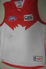 West Coast Eagles- Dean Cox signed WCE Home Jersey/Jumper + COA