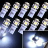 10x T10 LED W5W 194 168 5SMD Car Wedge Tail Parking Plate Light Bulb 12V - WHITE