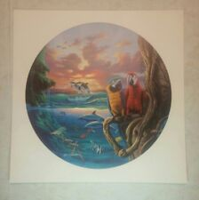 """Paradise"" Lithograph SIGNED by Surrealist Jim Warren limited edition Fantasy"