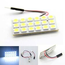 White Car Roof Dome Light Panel T10 5050 18 SMD LED + T10 Festoon Adapter Set