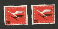 GERMANY - USED + MH STAMP , 20 -  Airmail Lufthansa - 1955.