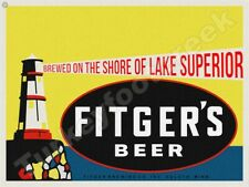 "New ListingFitger'S Beer 9"" x 12"" Metal Sign"