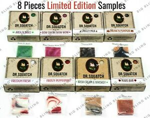 8 LIMITED EDITION Dr. Squatch Soap Samples - FREE SHIP by Noon - Tracking - USA
