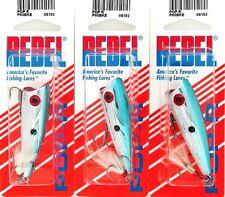 (3) Rebel Fishing Lures Topwater Pop-R Bait P60BKE