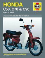 Honda C50 67-85, C70 72-86, C90 67-03 Haynes Manual