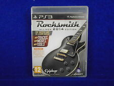 ps3 ROCKSMITH 2014 Edition Authentic Guitar Game Playstation PAL UK REGION FREE