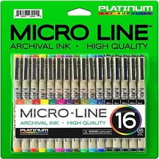 Premium Micro-Line Ultra Fine Point Ink Pens - (SET OF 16) - Archival Ink