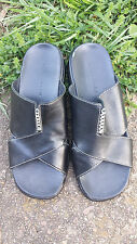 Black Cole Haan Country 7.5 B Criss Cross Sandals Slides Slip on N i k e Soles