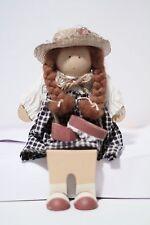 Lizzie HIgh Wooden Shelf Sitter Doll - Betsy Valentine Folk Art 1988 NEW