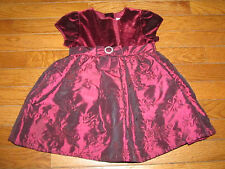 Baby Toddler George 24 mo. Months Christmas Holiday Church Dress Outfit Burgundy