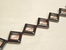 "16"" String 13mm Hematite Square Donut Beads : HEM01"