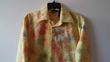 Men's DKNY M Casual Long Sleeve Floral Design Multicolor