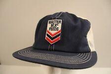 MASTER MIX FEEDS Snapback K-PRODUCTS USA Hat Cap Trucker Farmer Mesh Patch VTG