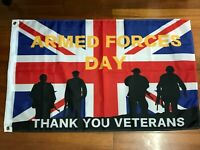 2020 UK Armed Forces Day Veteran Day Flag British Remembrance Military Army