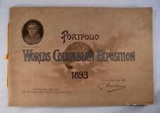 Popular Portfolios Of Worlds Columbian Exposition 1893 Antique Book Chicago (O)