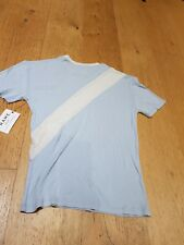 Brand new FRAME london los angeles women's rugby t-shirt light blue small