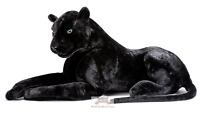 Deluxe Paws Large Black Panther Realistic Stuffed Plush Soft Toy 100cm