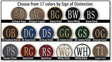 Whitehall Coquille up to 3-Line Address Plaque Sign Marker - 17 Color Choices