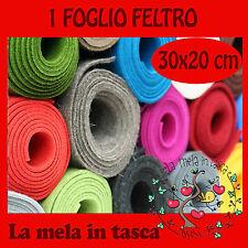 1 FOGLIO  FELTRO  MISURA 30X20 SPESSORE 4mm