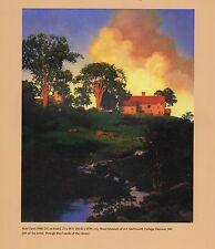 "MAXFIELD PARRISH BOOK PRINT ""HUNT FARM"" RURAL NEW ENGLAND SCENE HOUSE & BARN"
