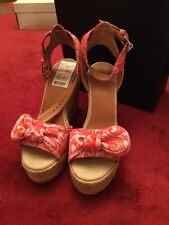 Marc Jacobs 635871 8M Cherry Textile Wedges Sandals