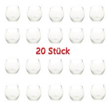 20 Stück Teelichthalter Teelichtglas Windlicht Kerzenhalter Glas