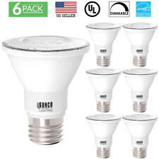 SUNCO 6 PACK PAR20 FLOOD LED BULB 7W (50W) 470 LUMEN 3000K WARM DIMMABLE