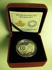 2015 Proof $10 NHL-Winnipeg Jets Canada .9999 silver ten dollars