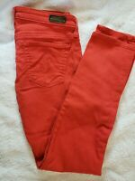 Adriano Goldschmied AG Red The Stevie Ankle Slim Straight Jeans Size 28x27