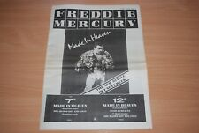 FREDDIE MERCURY - 'MADE IN HEAVEN' RARE UK FULL PAGE ADVERT. READY TO FRAME