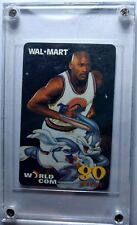 1997 Wal-Mart World Com Michael Jordan Space Jam, 80 minutes Rare Phone Card!