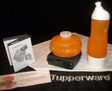Tupperware BLACK Sandwich ~ORANGE 25 oz Sports Water Bottle ~Mini Salad Round