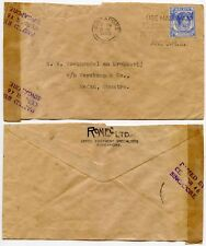 Singapour CENSOR 1940 To SUMATRA Dutch East Indies RONEO 12 C Malaya commercial