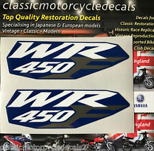 Yamaha WR450 WR450F Panel Lateral Trasero Guardabarros Calcomanías